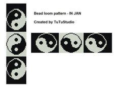 Bead loom pattern Gold wreath por TuTuStudio en Etsy