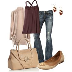 """""""Tory Burch Bag/Shoes"""" by irenesdreams on Polyvore"""