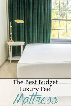 The Best Budget Luxury-Feel Mattress | Three mattresses, three different price points, and how they compare to find a luxury feeling mattress that doesn't break the bank. #mattress #affordable