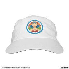 Lindo rostro femenino headsweats hat. Regalos, Gifts. #gorra #hat