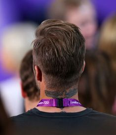 Back View of David Beckham Hairstyle London 2012