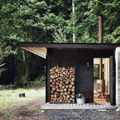 Container House - All you need in the woods. #getoutdoors #upknorth Tiny one room cabin nestled in the Gulf Islands, BC. Olson Kundig design shot by Tim Bies. (at Gulf Islands BC) Who Else Wants Simple Step-By-Step Plans To Design And Build A Container Home From Scratch?