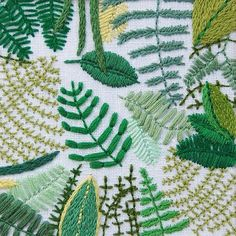 Happy Cactus Designs Foliage Embroidery / Oh So Beautiful Paper