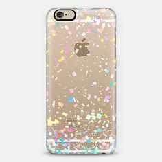 Pastel Confetti Explosion Transparent iPhone 6 Case by Organic Saturation | Casetify. Get $10 off using code: 53ZPEA
