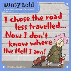 Auntie Acid Funnies | Chuck's Fun Page 2: Aunty Acid cartoons