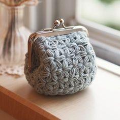 Crochet Wallet, Crochet Coin Purse, Crochet Pouch, Crochet Purses, Free Crochet Bag, Scrap Yarn Crochet, Love Crochet, Crochet Crafts, Knit Crochet