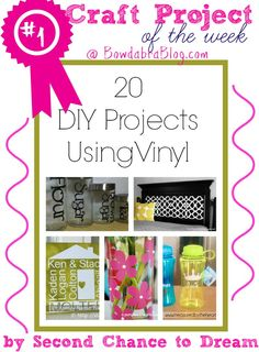 #1 Craft Project of the Week – 20 DIY Projects Using Vinyl by Second Chance to Dream