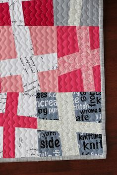 Teaginny Designs: Wonky Cross Quilt