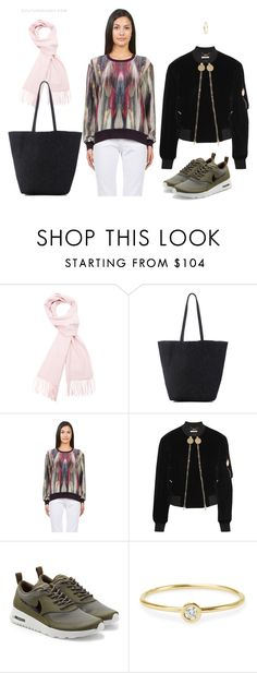 """Stylish Cozy Scarf 2"" by couturecandy on Polyvore featuring Sofia Cashmere, Nicole Miller, Givenchy and NIKE"