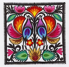 "213 best polish paper cuts (wycinanki) images in 2018 polish folkpolish art center lowicz wycinanki 6"" 15cm birds square painting on wood,"