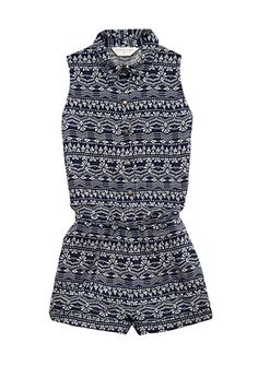 Tribal Print Romper (Kids) | FOREVER21 girls - 2000061709. Be so cute with combat boots.