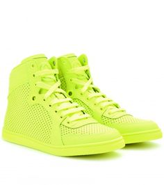 Neon Leather High Tops
