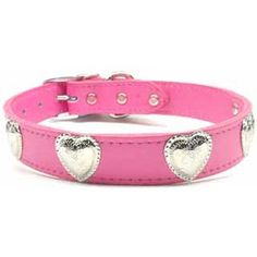 Western Heart Leather Dog Collar