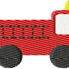 Fire Truck Mini Machine Embroidery Design