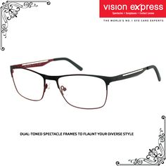 Play around with colours with this pair of sleek spectacle frames with unique temple details.  Model - VX GV IN STYLE ISAM11 BR.55   #MensSpectacles #elegant #Eyewear #MensFashion #Trends #Fashion #Accessories #glasses #FormalGlasses #CorporateLook #Formals https://goo.gl/il2H6O