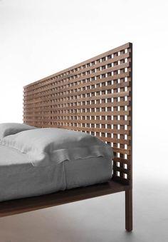 Walnut double #bed TWINE by HORM.IT   #design Matteo Thun, Antonio Rodriguez #wood