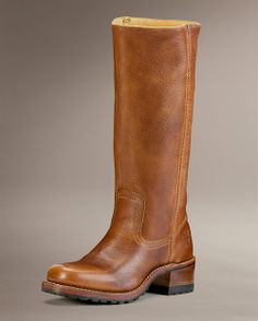 Frye campus boots - with treads!  A work of art turned winter-friendly.