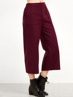 Pants by BORNTOWEAR. Wide Leg Dual Pockets Pants