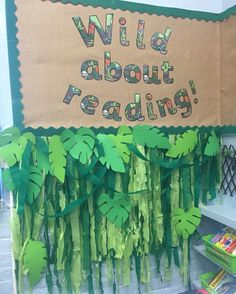 18 Ideas Children Reading Corner Fun For 2019 Reading Corner Classroom, Reading Corner Kids, Children Reading, Jungle Theme Classroom, Classroom Themes, Future Classroom, Classroom Displays, Library Displays, Library Themes