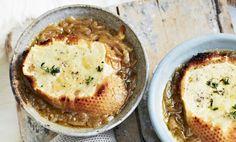 franse uiensoep Quiche Lorraine, English Food, Hummus, Dinner, Vegetables, Eat, Ethnic Recipes, Drinks, Dining