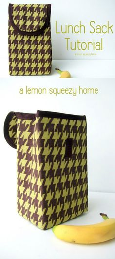 Lunch Sack Tutorial {lemon squeezy home}