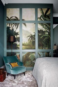 Velvet bedroom chair