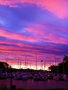 Vivid sunset colors make me smile and thank God.