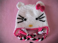 Πλεκτο Σκουφακι Hello Kitty (μερος 1ο) / Hello Kitty Crochet Hat Tutorial (part 1) - YouTube