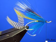 Flies step by step: Blue Charm, step by step. Blue Charm, Salmon Flies, Fly Tying Patterns, Trout, Fishing, Charmed, Sea, Green, Fly Tying