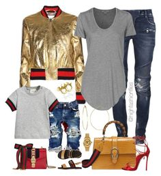 """""""Gucci's Home"""" by highfashionfiles ❤ liked on Polyvore featuring Gucci, Balmain, Dsquared2, Helmut Lang, Smith/Grey, Phyllis + Rosie and Rolex"""