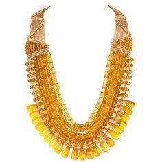 Buy Topaz Five Crystal Strings Necklace Online| Beyondgallery.Com