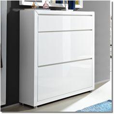 Schuhschrank Tino Weiß Hochglanz Lack | Garderoben und Flurmöbel > Schuhschränke > | Wohnen