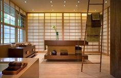 Bathroom Japanese minimalism mirror