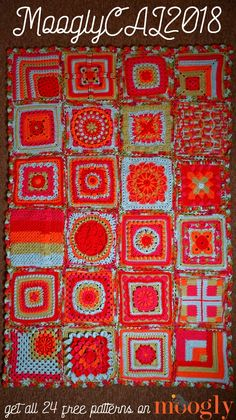 Crochet Squares Granny Design It's time to reveal my finished blanket - and share the details for Join the fun in the year of this fantastic Crochet Along! Afghan Crochet Patterns, Crochet Squares, Crochet Granny, Crochet Motif, Crochet Designs, Crochet Yarn, Crochet Stitches, Crochet Hooks, Free Crochet