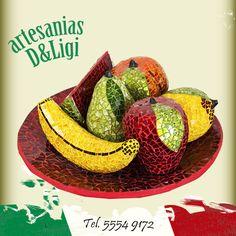 Hermoso conjunto de frutas para decorar tu hogar. #Artesanía #color #hechoenmexico #decoración  #hogar #mx #cdmx #arte #frutas #colores #centrodemesa