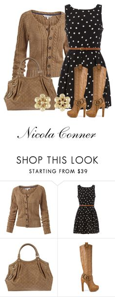 """""""Polka Dots"""" by nicola-conner ❤ liked on Polyvore featuring Fat Face, Dorothy Perkins, Gucci, Zigi Soho and Miso"""