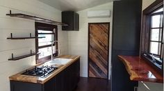 Rustic Tiny Home built by @windrivertinyhomes near Chattanooga, Tenessee