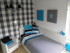 Idee n jongens slaapkamer on pinterest 23 pins - Kamer blauwe jongen grijs ...