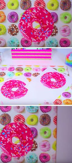 Donut Art | Click Pic for 20 Cool DIY Projects for Teen Girls Bedrooms | Easy Crafts for Teen Girls to Make