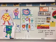 Jamestown Elementary Art Blog: First grade texture monsters