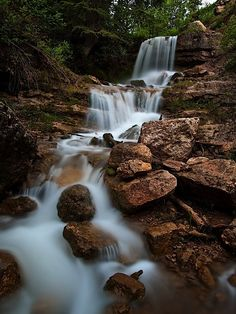 A waterfall up the right fork of Hobble Creek Canyon, Ut