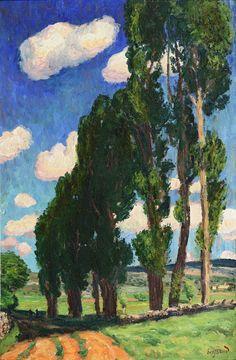 Les peupliers, vers 1910.  SEYSSAUD, René (1867-1952)