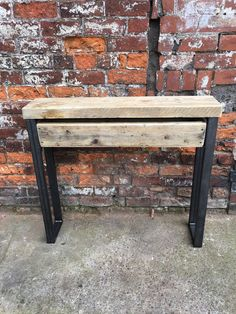 Chic Reclaimed Wood Office Desk reclaimed wood office desk Industrial Chic Style Reclaimed Custom Hall Console Side Table W Drawer Steel And Wood Metal Bar Cafe Restaurant 469