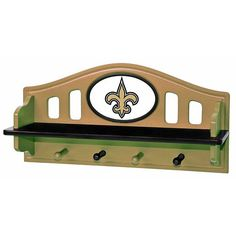 New Orleans Saints Wooden Shelf $49.99