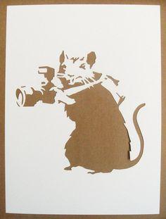 BANKSY Rats Stencils Set Of Five Photographer Sawing por existencil
