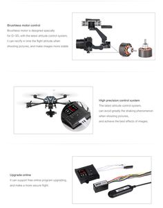 Amazing for Aerial Photography!  The new Walkera G-3S Gimbal Stabilizer for Sony RX100II Camera and more!  Designed for the Walkera QR X800 Quadcopter Drone!  Available at: www.HobbyFlip.com