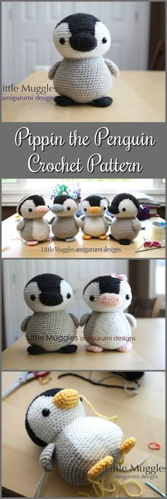 Amigurumi Crochet Pattern - Pippin the Penguin #crochet #ad #amigurumi #pdf