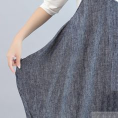 6a0a0c2d0bd7 blue gray stylish cotton dresses plus size casual sleeveless maxi dress