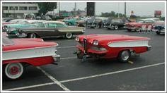 Edsels 'N Trailers! 1958 Edsel and custom mini trailer