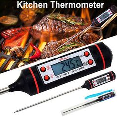 Digital Food Thermometer Probe Temperature Kitchen Cooking BBQ Meat Turkey Jam